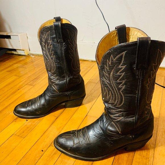 Vintage men cowboy boots size 10